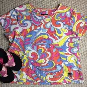 Oleg Cassini Sport paisley short sleeve Tee XL